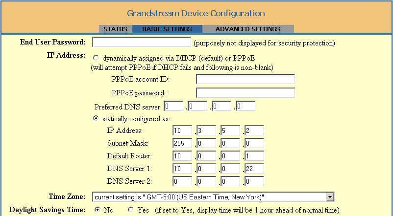 Grandstream HandyTone-486 - SIP Analog Telephone Adapter (ATA)